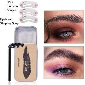 Eyebrow Shaping Soap Styling Gel Wax with Brush Long Lasting Shaper Eye Brow UK