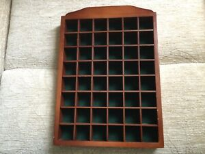 Wooden Wall Mounted 48 Thimble Display Case