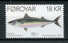 Faroes Faroe Islands 2018 MNH Mackerel Norden 1v Set Fish Fishes Stamps