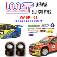 Urethane Slot Car Tyres x 4 Wasp 01 18 x 9 x 2.6 x 5 Multi Brand Fit
