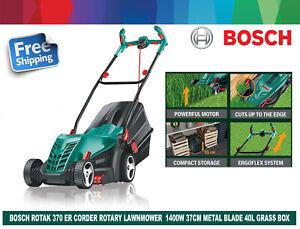 EX Bosch Rotak 370 ER Rotary Electric Corder Lawnmower 1400W 37cm Metal Blade