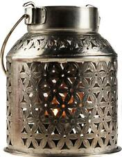 Silver Metal Moroccan Ethnic Style Almeria Lantern - Tea Light Candle Holder