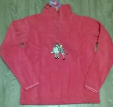 girls pony horse fan super soft pink fleece top pullover Age 11 12 13 14 NEW