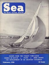Sea Boating Magazine February 1946 Tyrant Time Clock, Book Locker 041817nonDBE