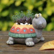 Turtle Flowerpot Succulent Resin Cactus Planter Ornament Garden Home Decoration
