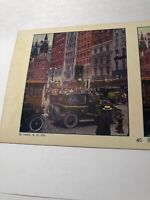 Vintage 1925 Traffic at 5th Ave & 42 Street New York City Stereoview Card