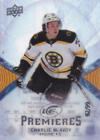 17-18 UD Ice Charlie McAvoy /99 Rookie Premieres SP Bruins 2017