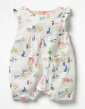 fac62a42322 MINI Boden BABY Sleeveless Farmyard Romper ORGANIC COTTON 18-24 months NEW  Y0246