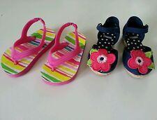 Gymboree lot baby girl summer flower sandals flats size 4-5