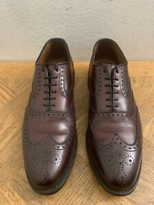 Allen Edmonds Wingtip McClain Burgundy 25815 Mens Size 8 D