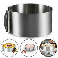 """6-8"""" Adjustable Round Mousse Mould Cake Stainless Steel Ring Pastry Mold Baking"""