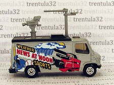 NEWS AT NOON Weather Sports TV NEWS TRUCK  silver black Matchbox Loose