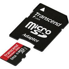 Transcend 64GB Class 10 MicroSDXC 400X Speed Memory Card - Retail (TS64GUSDU1)