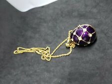 Rucinni Egg Pendant Necklace Jeweled with Swarovski Crystals. 5X