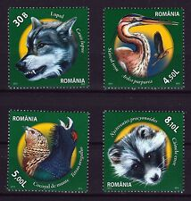 Nature Preserves set of 4 mnh stamps 2011 Romania #5281-4 wolf heron raccoon dog