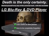 *COMMEMORATE MORTALITY* with an LG Blu-Ray Player. Totally pointless, like life!
