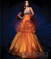 Tony Bowls MON CHERI TBE11164 Orange Multi Convertible Gown Long Short Pageant