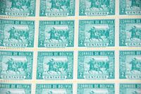 1943 Bolivia Sc C281 General Ballivian Battle Ingavi MNH partial sheet of 25