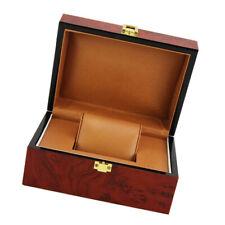 Wine Red Wood Jewelry Watch Storage Bracelet Travel Box Luxury Showcase