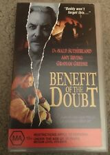 Benefit Of The Doubt VHS TAPE (1993 Donald Sutherland thriller movie) rare