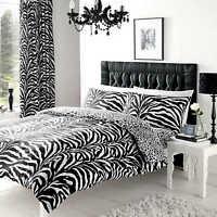 Zebra Print Single Duvet Cover Quilt Cover Set Bedding With Pillow Cases Animal