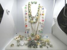 Vintage 31 Pc. Jewelry Lot, Necklaces, Earrings, Brooches...1928, Monet and more