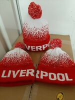 Liverpool Football Pom Pom Bobble Beanie Hat Knitted. League Champions 2020