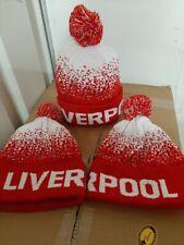 Liverpool Football Pom Pom Bobble Beanie moteado sombrero de tejer. Campeones. presente.
