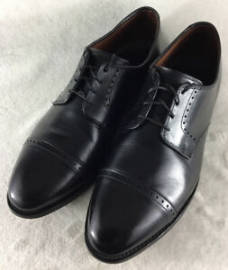 Allen Edmonds Clifton Men's Cap Toe Derby Black Leather Dress Shoes Size 11.5 3E