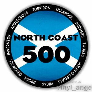 2x NC500 NORTH COAST 500 Car Vinyl Sticker 75mm x 75mm - WATERPROOF #2380