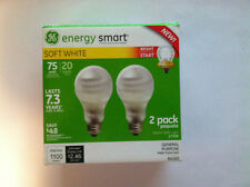 GE Energy Smart 20 watt  2 pack light bulbs soft white