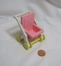 PLAYSKOOL Dollhouse STROLLER BABY BUGGY Nursery Furniture for Loving Family Rare