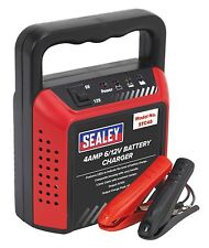 Sealey Compact Battery Charger 6/12V 4Amp 230V Automatic Car Van Motorbike STC40