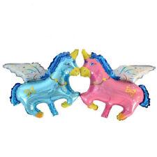 Pegasus unicorn pink blue baby shaped foil balloon mylar