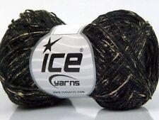 Ink Tilt Cotton Yarn #49968 Ice Black Tan 100% Mako Cotton Mini Slub 50gr 142yds