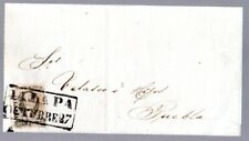 Mexico: 1862 folded wrapper to Puebla franked 2 Reis ovpt JALAPA