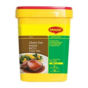 RICH GRAVY MIX INSTANT 2KG BY MAGGI - GLUTEN FREE FREE POST (SECURELY PACKED)