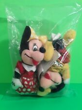 DISNEY STORE Mickey & Minnie Bean Bag Set of 2 9