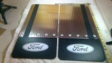 Pair Deflecta Shield EX-1010 MF Mud Flaps With Ford Logo