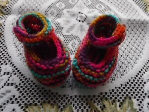 HAND KNITTED  BABY SHOES / BOOTIES PREM/NEWBORN