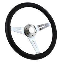 Forever Sharp 3-Spoke Empire Black Steering Wheel w Black Leather