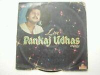 PANKAJ UDHAS LIVE 1982 RARE LP RECORD Orig vinyl india hindi GHAZAL EX