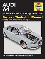 Audi A4 Petrol & Diesel 2005 - 2008 Haynes Manual 4885 NEW
