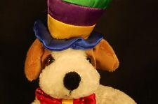"Mardi Gras Jester Top Hat Bow Tie Spot 9"" Hound Dog Toy"