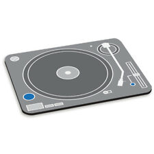 platine tourne-disque gris blanc dessin animé Tapis De Souris PC Ordinateur - DJ