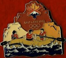 Unique 2002 Salt Lake City White Water Rafting Olympic Games Mark Pin