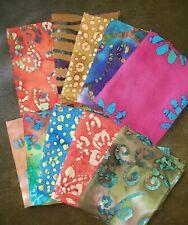 Batik Fat Quarter #B10 | Precut Cotton Fabric | Quilting | Set of 10
