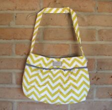 Stampin Up TOTE Cute Yellow Striped Shoulder BAG with Nice Pockets