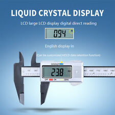 LCD DIGITAL VERNIER CARBON FIBER COMPOSITE CALIPER MICROMETER GUAGE 6 INCH 150MM