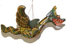 Hand Carved Balinese Green and Gold Barong ( Mytholgical Dragon ) - Large
